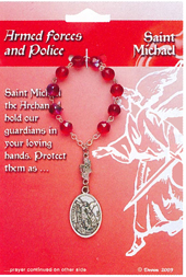 Armed Forces & Police St. Michael One Decade Rosary 64-08022MIC