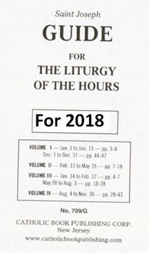 St. Joseph Guide for Liturgy of the Hours Large Print 2018