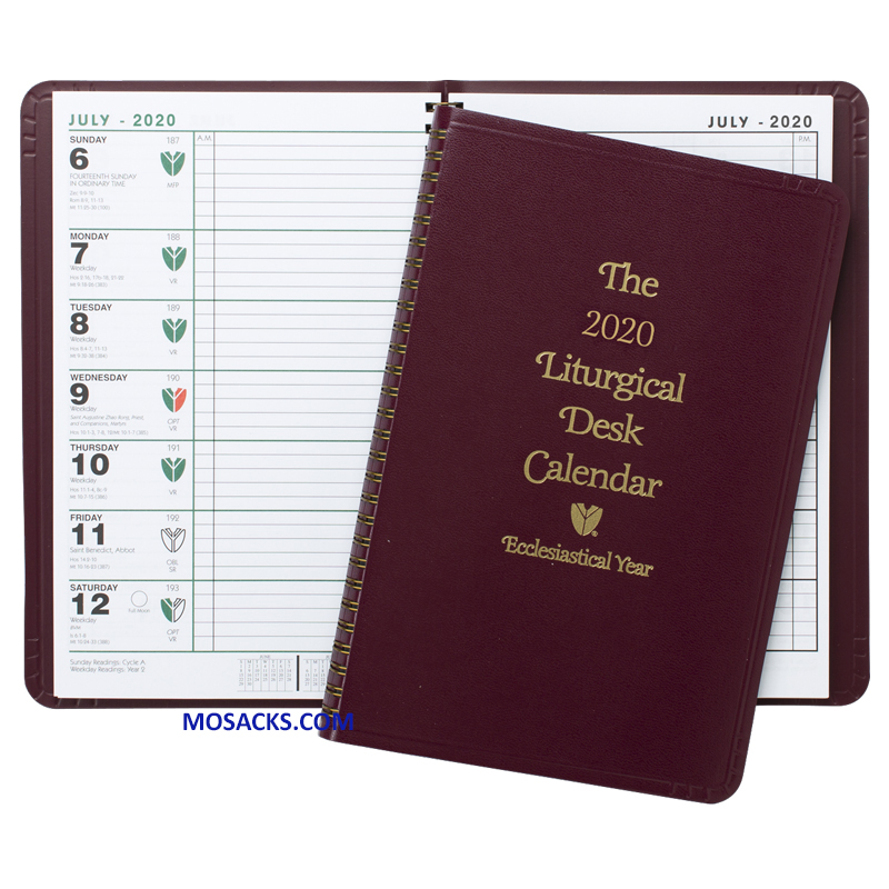 Liturgical Desk Calendar Ecclesiastical Year 2020