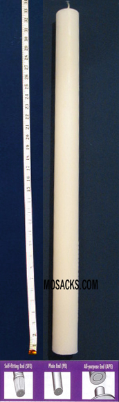 "Long-Burning 51% Beeswax Altar Candle Long 1's PE, 1 1/16"" x 33 3/4"""