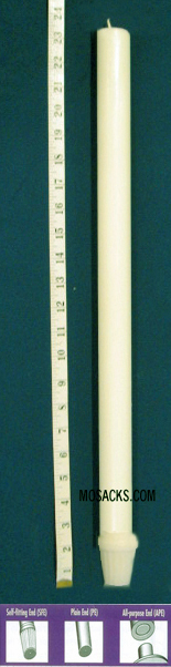 "Long-Burning 100% Beeswax Altar Candle Long 2's SFE, 7/8"" x 23 1/4"""