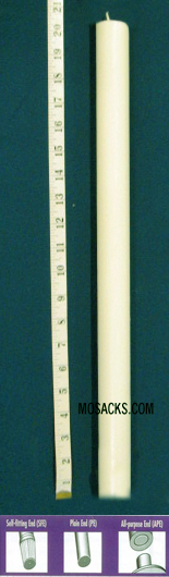"Long-Burning 100% Beeswax Altar Candle Long 3's PE, 25/32"" x 20 1/4"""
