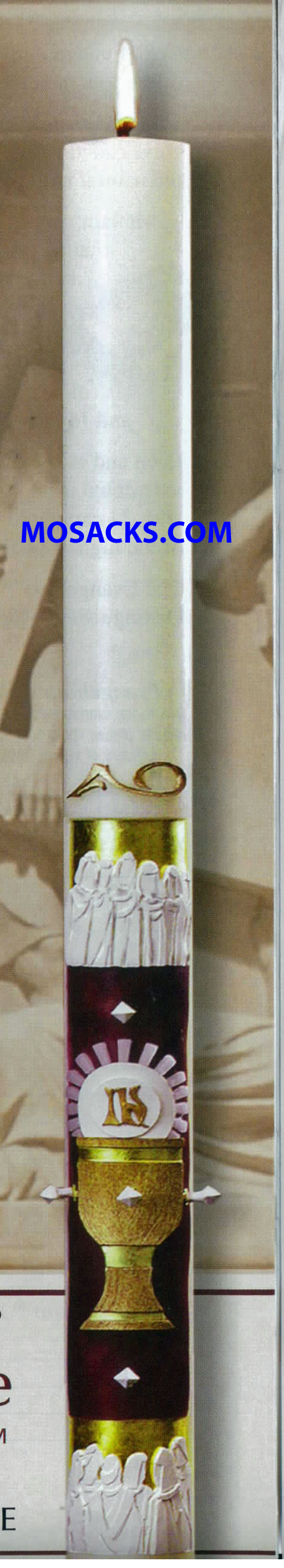 eximious® 51% Beeswax Paschal Candle The Twelve Apostles™ by Cathedral Candle