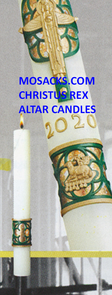308 Eximious Christus Rex Complementing Altar Candles