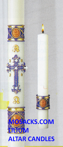 eximious Beeswax Paschal Candle Lilium Complementing Altar Candles