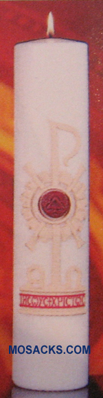 "Holy Trinity Christ Candle, 3"" x 14"", Cathedral"
