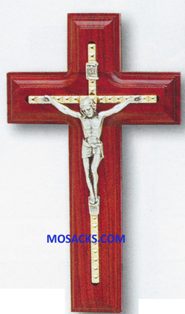 5-1/2 Rosewood Cross With Inlayed Crucifix  64-17376