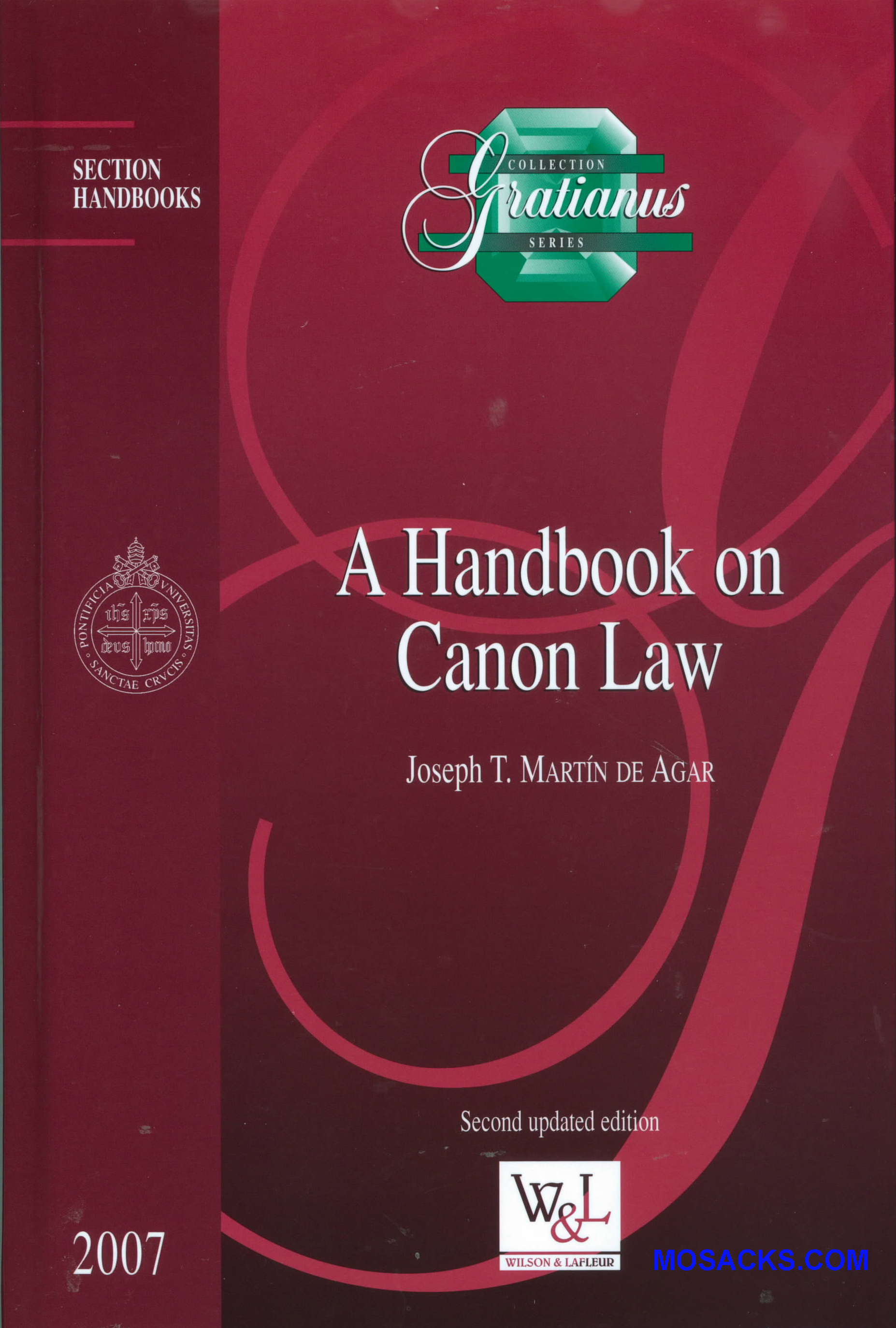 A Handbook on Canon Law by Joseph Martin De Agar 445-78041