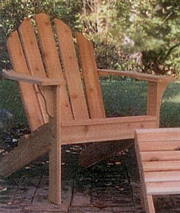 Adirondack Chair, Classic, Western Red Cedar Outdoor Furniture