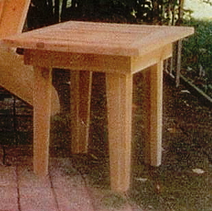 Adirondack Side Table, Western Red Cedar Outdoor Furniture