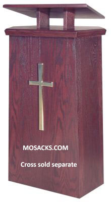 Lectern Wooden Adjustable Top Cross Available with Two Shelves 40-511A