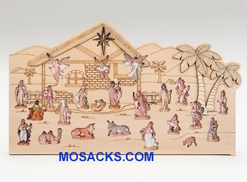 Advent Calendar Fontanini 25 Pc Wood Stable 20-59020