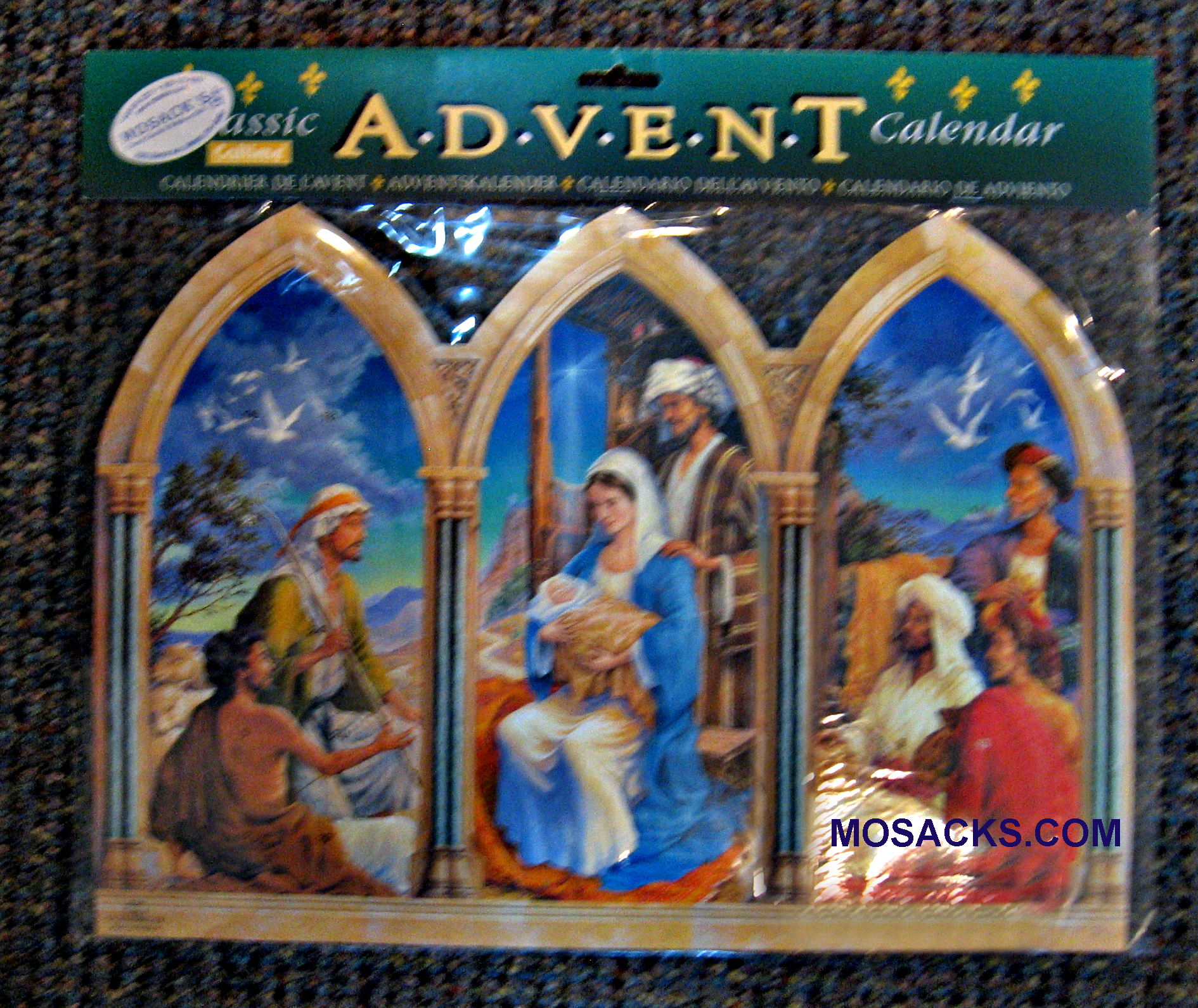 Advent Calendar Triptych-C218A, 11 x16 Advent Calendar