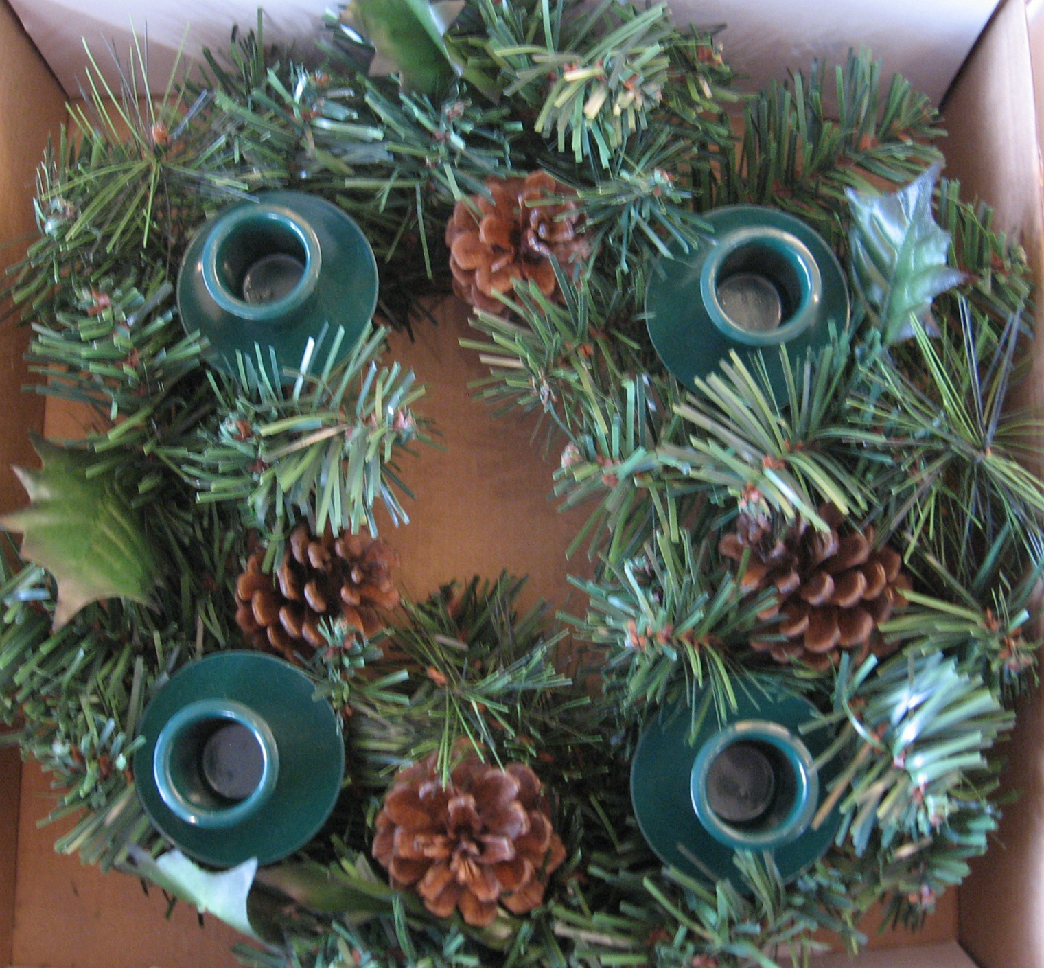 Advent Wreath Pinecone Green 11 inch 426-VC910