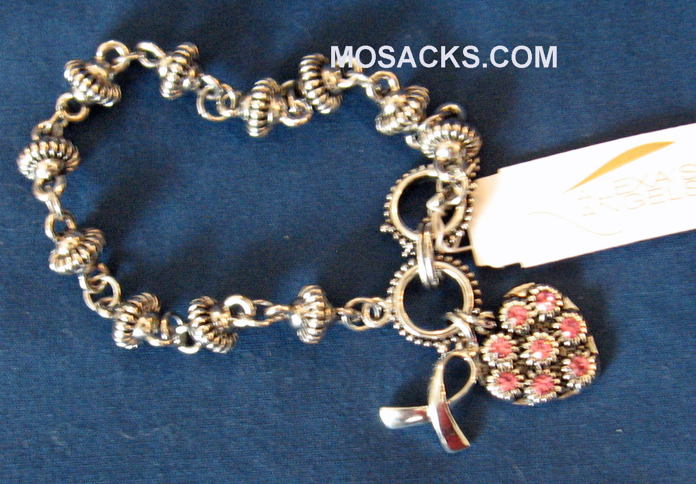 Alexa's Angel Silver Cancer Awareness Bracelet 15261