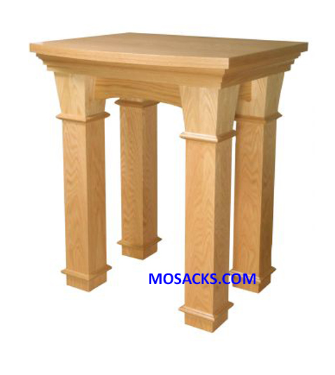 "Altar Of Repose Wood 40-526 measures 36"" wide x 30"" deep x 42"" high"