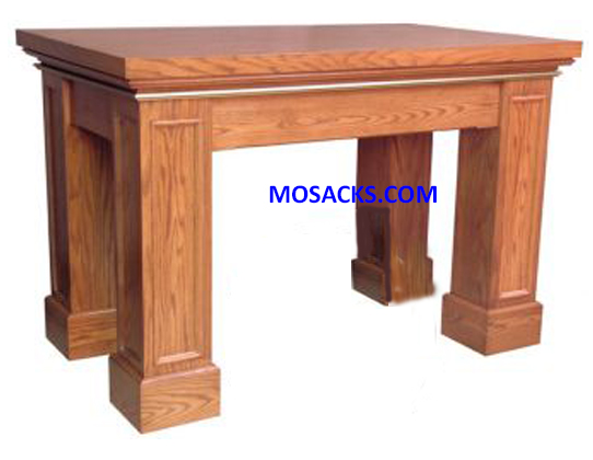 "Altar - Wood Altar w/Rectangular Trim 60"" wide x 36"" deep x 40"" high 40-625"