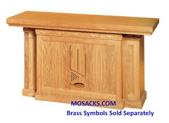 "Altar - Wood Altar With Front Panel 60"" wide x 32"" deep x 40"" high 40-1460"