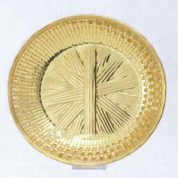 "Communion Bowl Gold Plate 7-3/4"" diameter -989G"