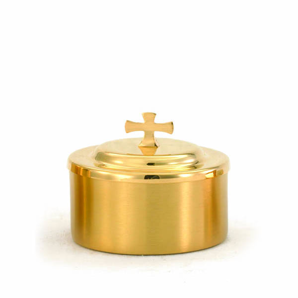 "Host Box Gold Plate 3-3/4"" high 3-5/8"" diameter 125 host capacity -336G"