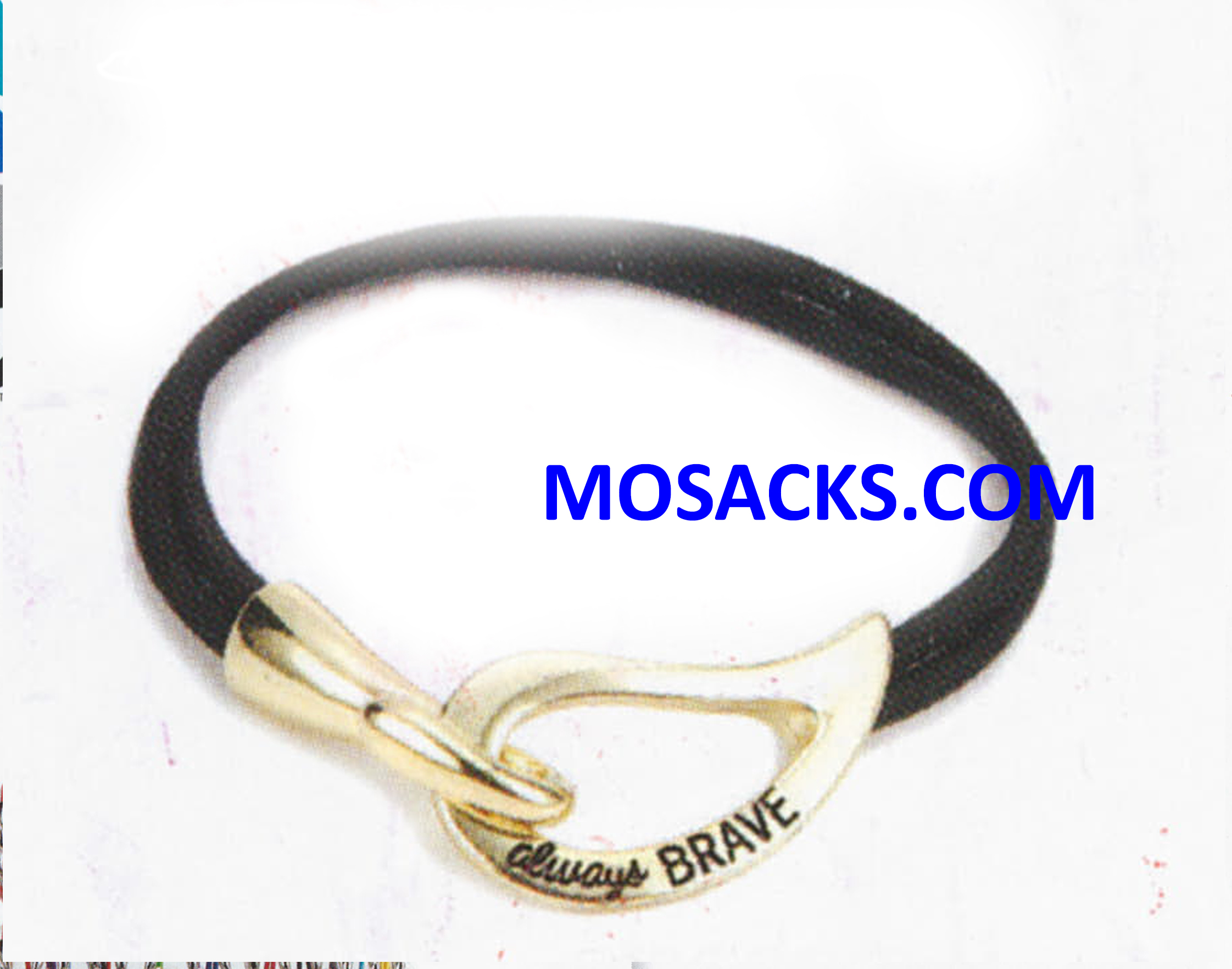 Always Brave Cancer Awareness Bracelet Gold Black 452-220847