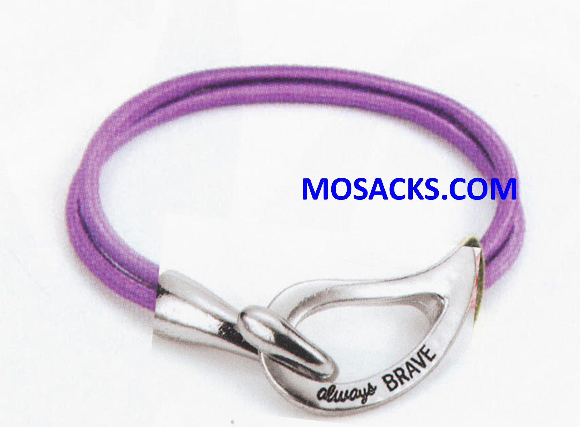 Alexa's Angels Always Brave Cancer Awareness Bracelet Rhodium Purple 452-220834
