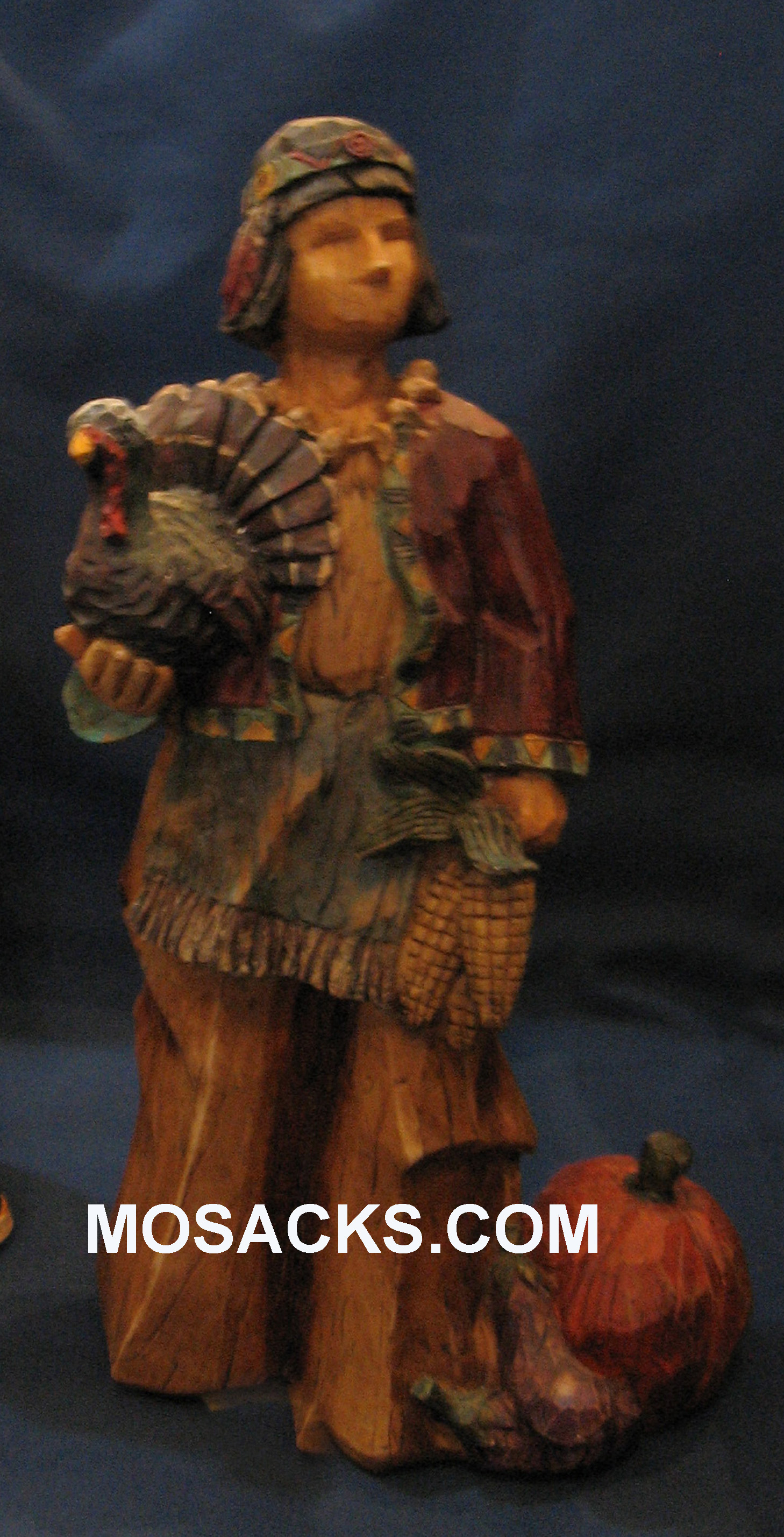 "American Indian Boy Thanksgiving Statue 9-1/2"" H  EG8869A"