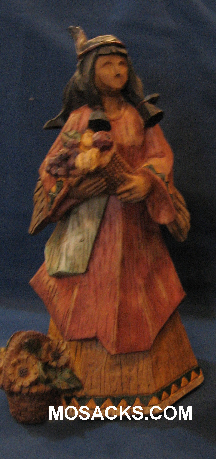 "American Indian Girl Thanksgiving Statue 9 1/2 "" H EG8869B"