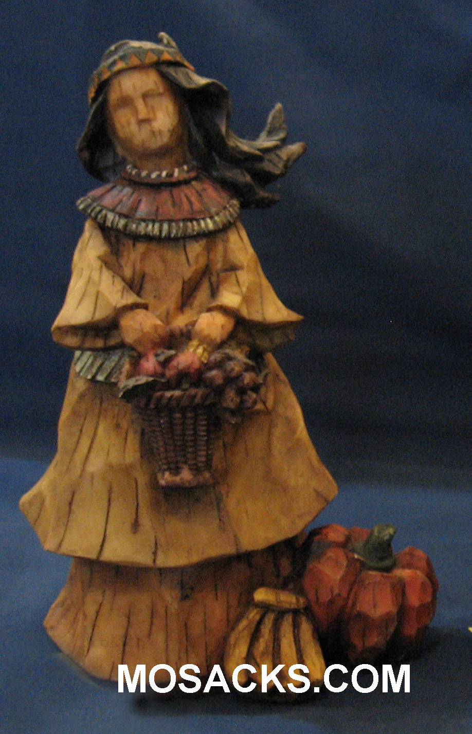 "American Indian Girl Thanksgiving Statue 8"" H EJ3751B"