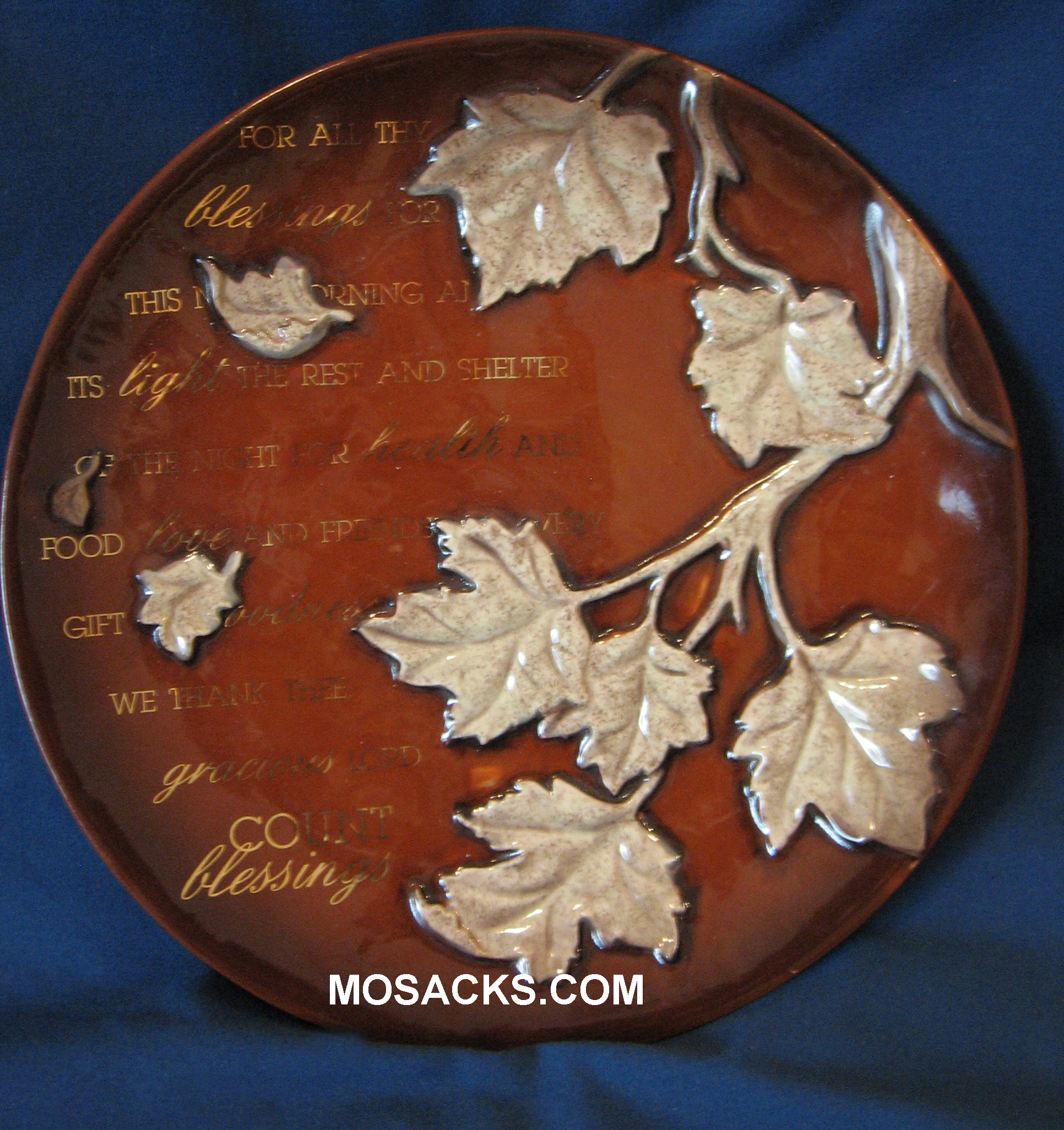 "Thanksgiving Plate 7 1/2"" in diam. 440246"