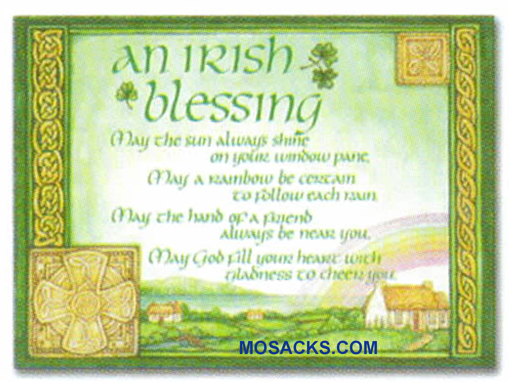 An Irish Blessing May The Sun Always Shine On Your Window Pane Greeting Card -WCA5099