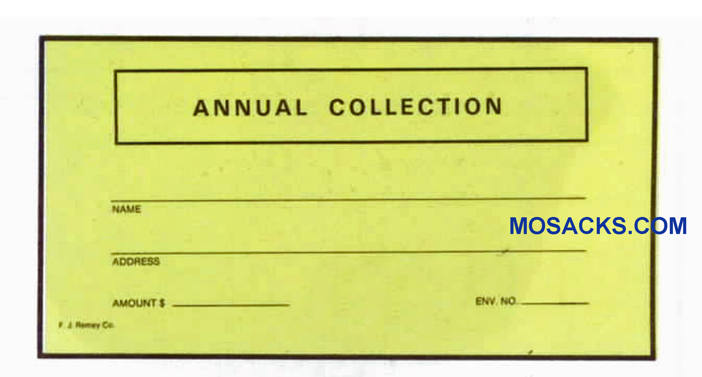 Annual Collection Offering Envelope 6-1/4 x 3-1/8 #304-334