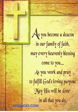 As You Become A Deacon Greeting Card 67-095177357354