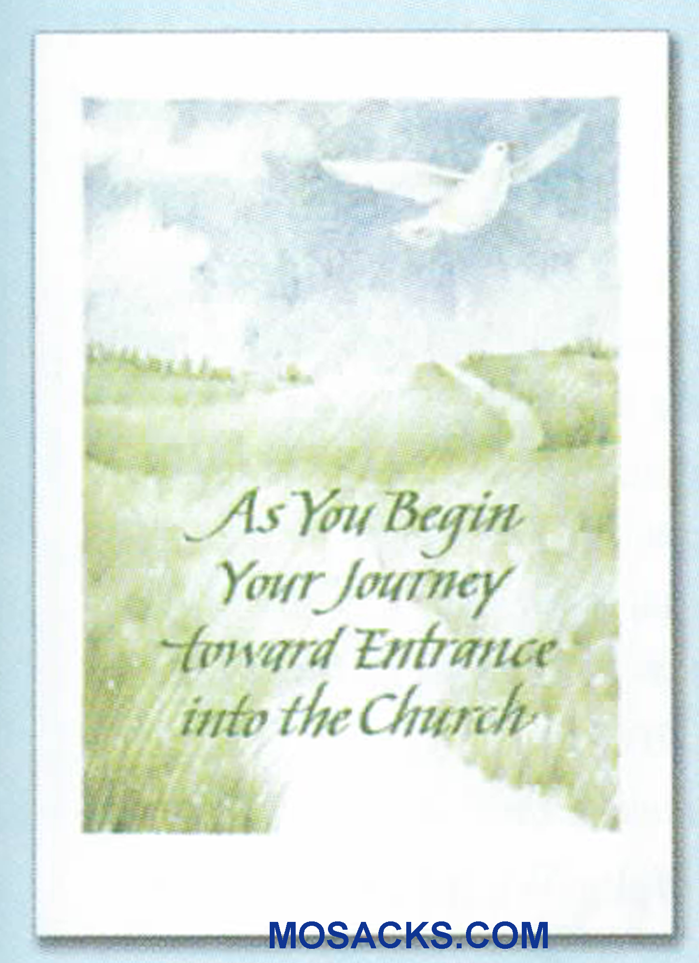As You Begin Your Journey Toward Entrance Into The Church Card-WCB1411