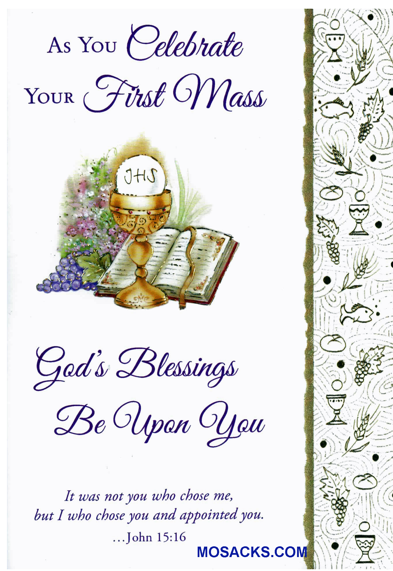 As You Celebrate Your First Mass Greeting Card -MASS87486