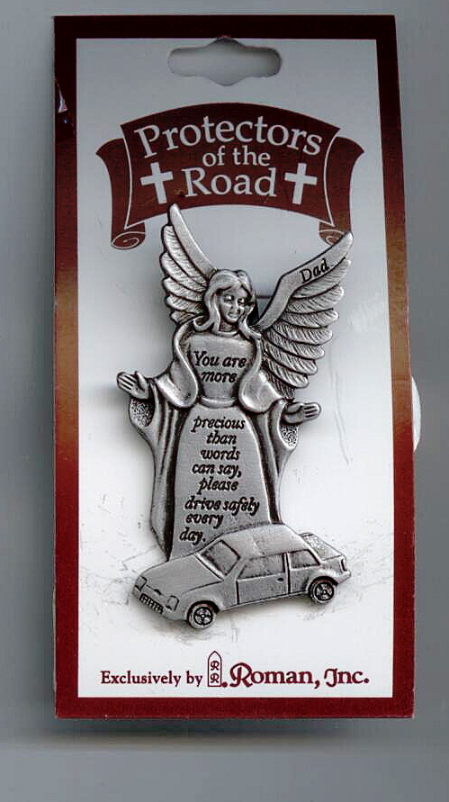 Metal Visor Clip Angel With Car #62694