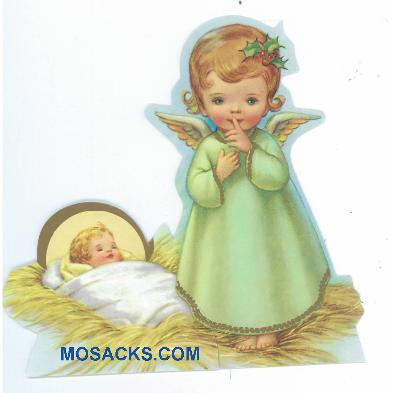 Baby Jesus and Angel Paper Cutout-X903