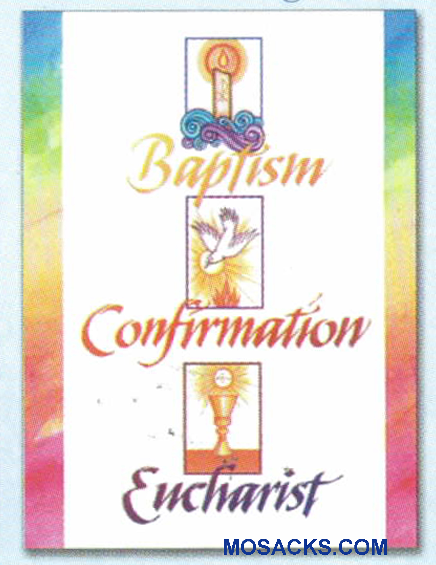 An RCIA Full Initiation Greeting Card Baptism Confirmation Eucharist Greeting Card -WCA5144 an RCIA Greeting Card