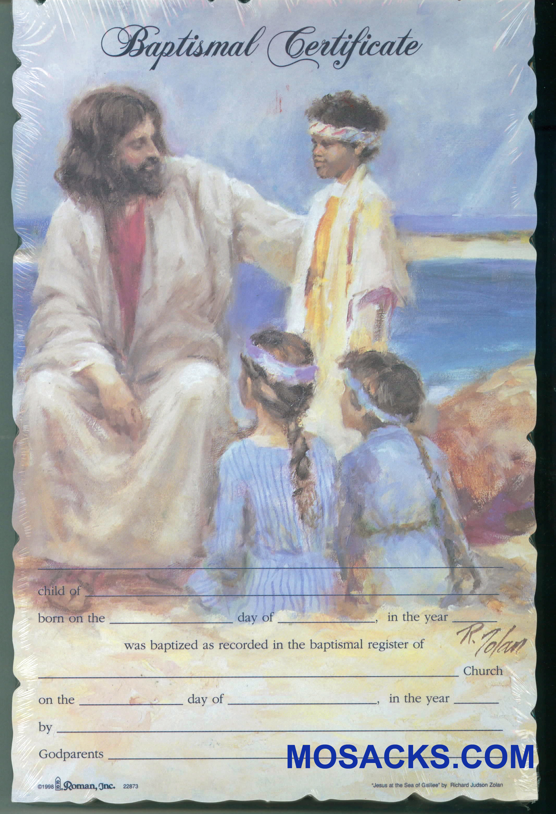Baptismal Certificate Jesus With Children-22873