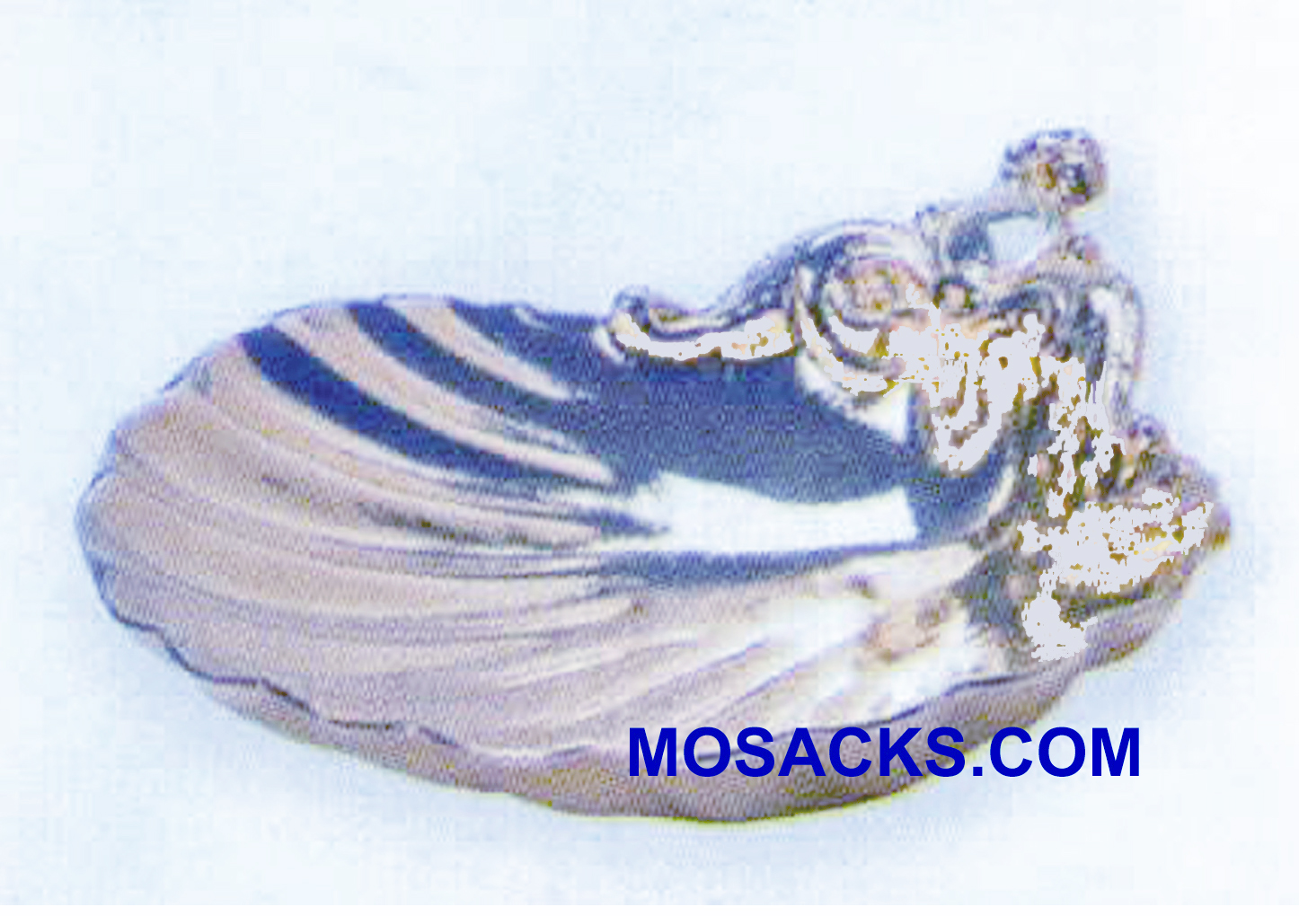 Baptismal Shell Nickel Plate Cast Bronze-K421S