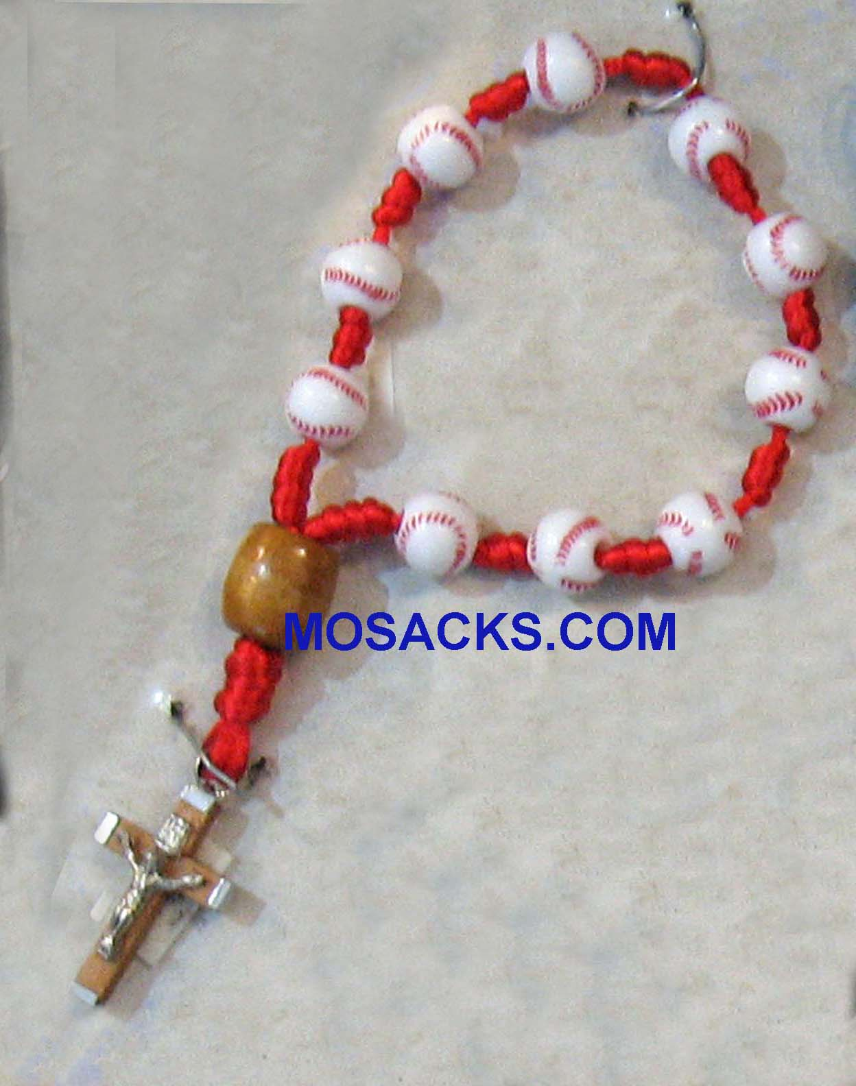"Baseball Rosary Loop 7-1/2""L, LDB Baseball Rosary Loop - One Decade Baseball Rosary"