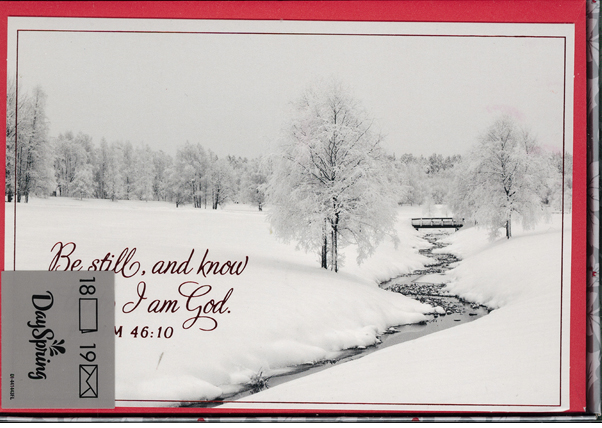 Be Still And Know Boxed Christmas Cards 217-J0426