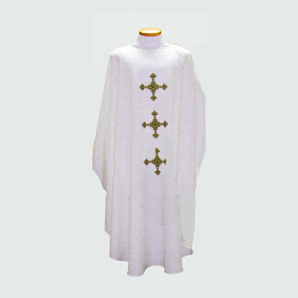 Beau Veste 3 Crosses Chasuble with front and back design-2016A