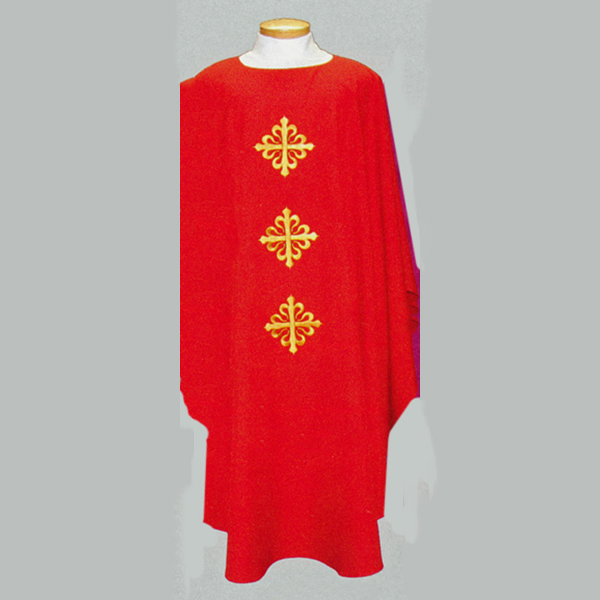Beau Veste 3 Crosses Chasuble  with front and back design-2020A