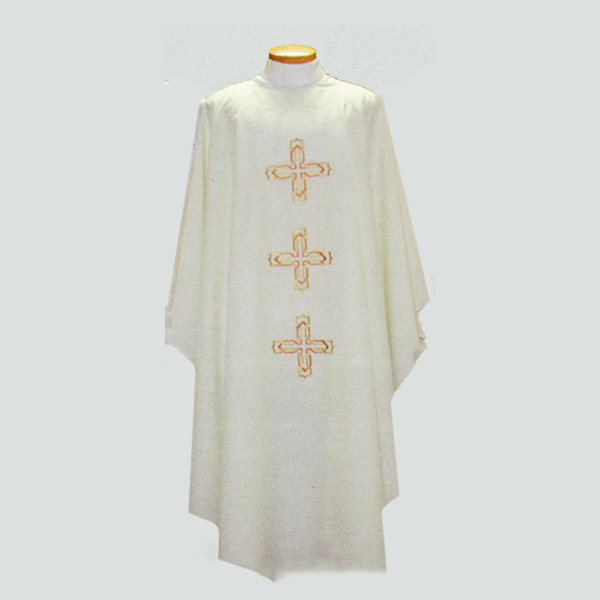 Beau Veste 3 Crosses Chasuble with front and back design-2021A