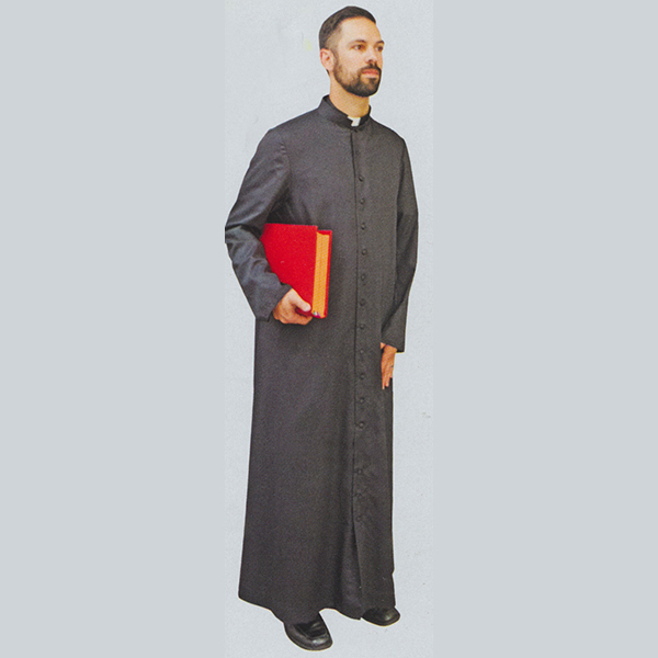 Beau Veste Adult and Priest Cassock Black - 563B