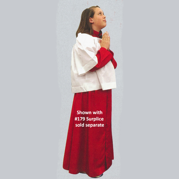 Beau Veste Altar Servers Cassock #562R in Red, Sizes 7 though 13