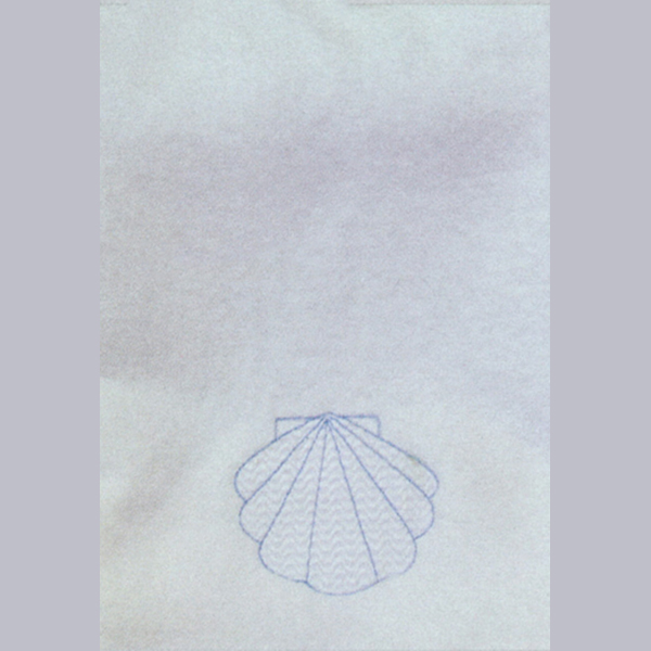 Beau Veste Baptismal Towel Embroidered Shell 10-BT15