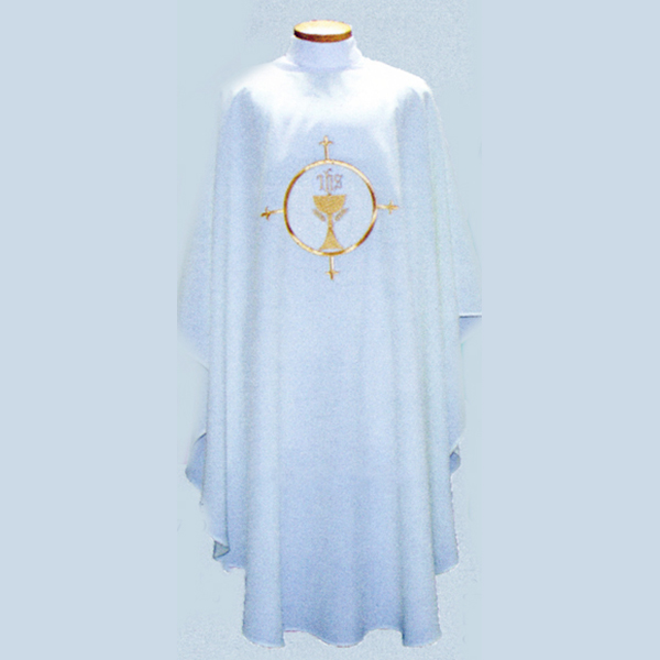 Beau Veste Chalice Chasuble design on front and back-2022A