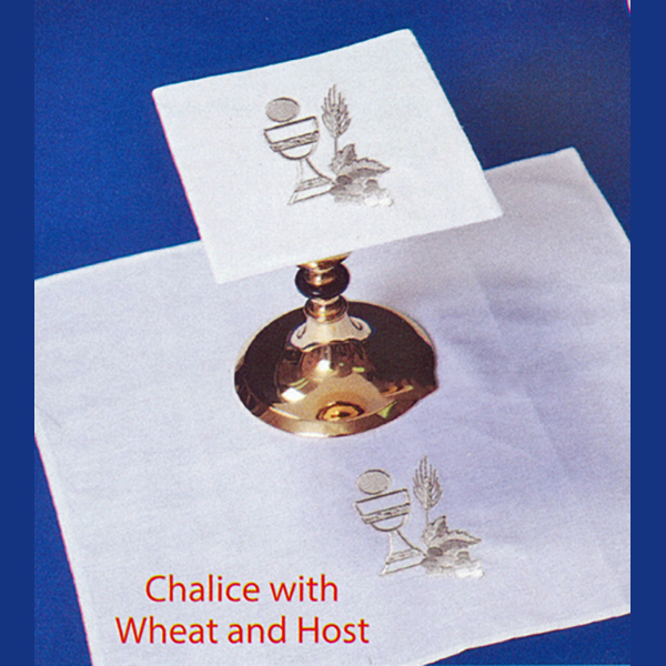 Beau Veste Chalice with Wheat and Host Altar Linens 4 piece set-2005